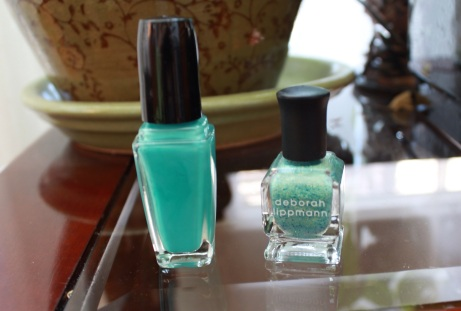 Sally Hansen's Dive In and Debora Lippman's Mermaid's Dream