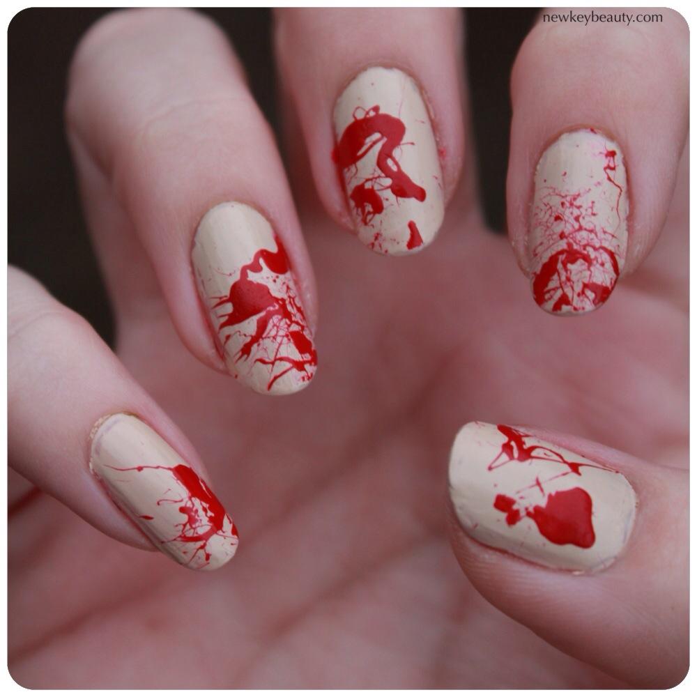 blood splater manicure