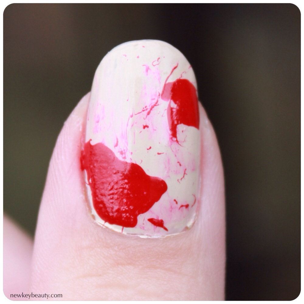 smudged blood splater nail