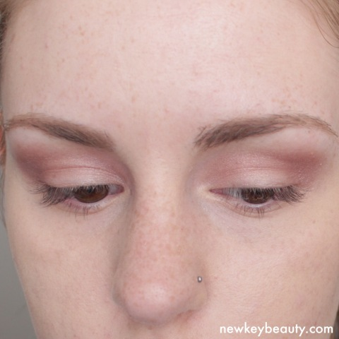 Rimmel eye shadows in 28 Burgundy Palace on eyes