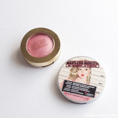 milani dolce pink blush the balm mary-lou manizer