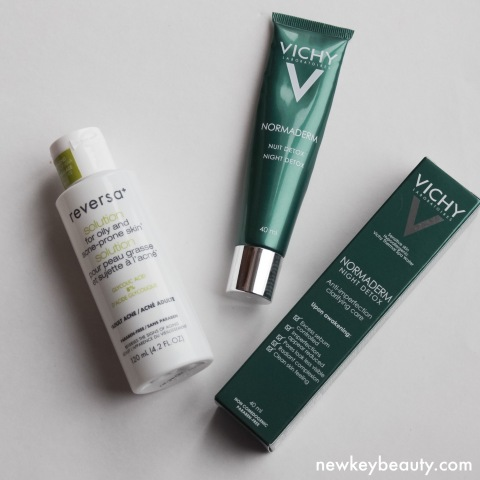 reversa solution for oily acne prone skin vichy normaderm night detox